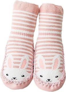 Calcetines de bebé, AMEIDD Calcetines de bebé niña niño Calcetines de algodón Antideslizantes Medias Calientes para bebés Botas de Zapatillas de bebé Calcetines de Piso