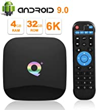 Q Plus Android 9.0 TV Box 4GB RAM 32GB ROM WiFi 2.4GHz Quad-core HDMI 2.0 Support 6K 3D/H.265
