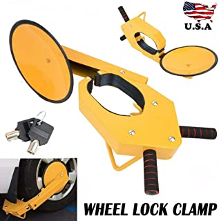 AVGDeals Parking Boot Car Tire Claw ATV RV Wheel Clamp Boat Truck Trailer Lock Anti Theft | Ideal for Long Stay car Parks, car Sales forecourts