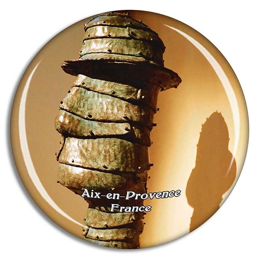 腸受け継ぐカエルフランス Aix-en-Provence冷蔵庫マグネット3Dクリスタルガラス観光都市旅行お土産コレクションギフト強い冷蔵庫ステッカー