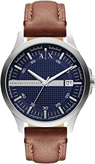 Armani Exchange AX2133 Dark Brown Stainless Steel & Leather Watch