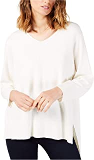 French Connection Women's V-Neck Sweater, Winter White, Small