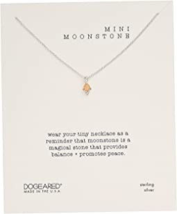 Mini Moonstone, Dotted Bezal Peach Moonstone Necklace