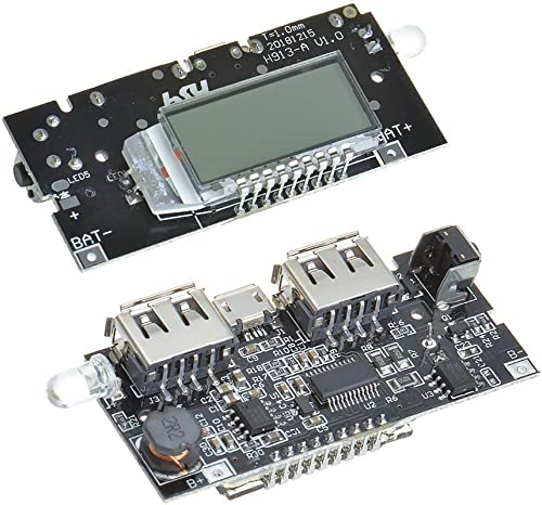 Power Bank Charging Module Dual USB 5V 1A 2 1A Circuit Board With Digital Display By Indian Hobby Center