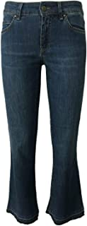 ATELIER CIGALA'S Jeans Donna Leggero MOD 15-119 Bell Bottom Crop Made in Italy