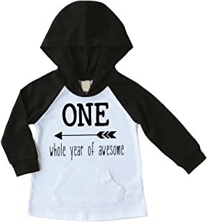 Bump and Beyond Designs Baby Boy First Birthday Outfit, One Year Old Birthday Boy Hoodie