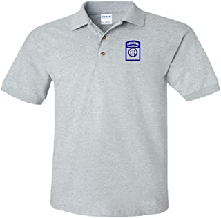 82ND Airborne Custom Personalized Embroidery Embroidered Golf Polo Shirt