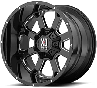 XD Series by KMC Wheels XD825 BUCK 25 Wheel with BLACK and Chromium (hexavalent compounds) (20 x 9. inches /5 x 78 mm, 0 mm Offset)