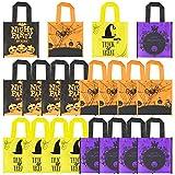 K KUMEED 20 Stück Halloween Tasche, Halloween Beutel für Kinder Partys Geschenke Goodie Taschen für Halloween Leckerei oder Trick Tote, Halloween Party Bags mit Aufdruck für Kinder Halloween Party