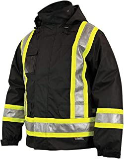Work King Safety Insulated 5-In-1 Parka, L, Black - S42611