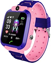 Binory Kids LBS Locator Tracker Smart Watch Telephone SOS Anti-Lost Waterproof Watch, Multifunction Wrist Watches Passometer Message Reminder Answer Call Remote Control Altitude Meter Photograph