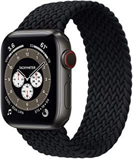 Braided Solo Loop Strap Compatible for Apple Watch Band 44mm 40mm 38mm 42mm Nylon Fabric Elastic Bracelet for iWatch Serie...
