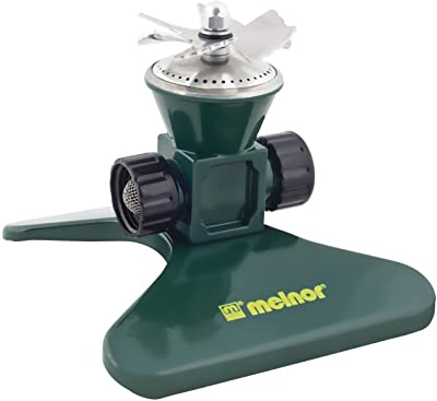 Melnor Revolving Sprinkler; Heavy-Duty Metal Construction; Waters up to 35' Diameter (7800),Green