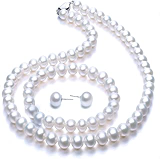 N\C Freshwater Cultured Pearl Necklace Set