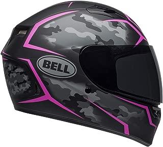 Bell Qualifier Full-Face Motorcycle Helmet (Stealth Camo Matte Black/Pink, Medium)