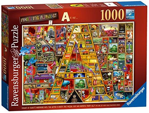 Ravensburger Puzzle, Puzzles 1000 Piezas, La Primera Letra del Alfabeto de Colin Thompson, Puzzles para Adultos, Puzzle Ravensburger, Jigsaw Puzzle