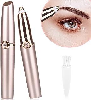 Eyebrow Hair Remover, Eyebrow Painless Hair Trimmer Epilator for Women Men, Lipstick-Sized Eye...