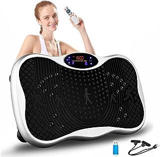 振動マシン 2021最新 振動調節99段階 5種類のプログラムモード Bluetooth 音楽プレイヤー機能付 超静音 筋力トレーニング ダイエット 日本語取扱説明書