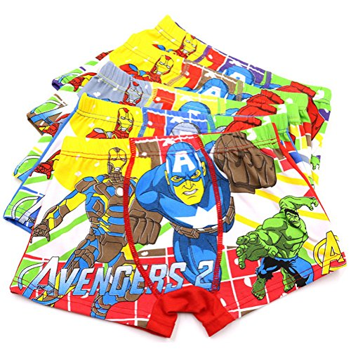 2-8 Years Boy's Images Boxer Briefs Cotton Character Underwear Multipack 5 Pack