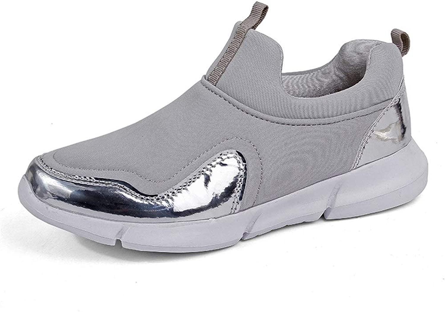 Weback Dress shoes for Men Athletic shoes for Men and Women Sports shoes Slip On Style Mesh and PU Patent Leather Height Increasing Insole