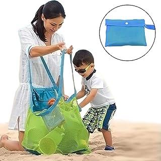 Bolsa de Playa de Malla, Zoiibuy Plegable Bolsa De Almacenaje para Juguetes De Playa De Ninos