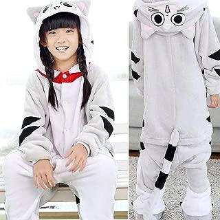 Onesie Kids Pajamas Panda Stitch Pijama Boys Girls Animals Flannel Pajama Funny Cosplay Hooded Sleepers HYBKY (Color : MM Cat, Size : 11)