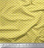 Soimoi Gelb Seide Stoff geometrische Stern Hemdenstoff