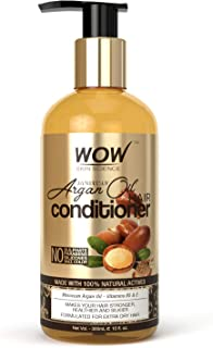 WOW Skin Science Moroccan Argan Oil Conditioner - No Sulphates, Parabens, Silicones, Salt & Colour - 300 mL