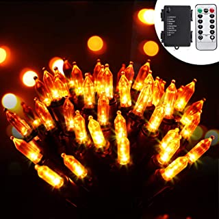 RECESKY 100 LED Battery String Lights with Remote and Timer - 33ft Halloween String Lights for Outdoor, Indoor Decor - Cle...