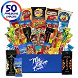 My College Crate - 50 Piece Care Package for Men - Snack Box Variety Pack for Adults - Bulk...