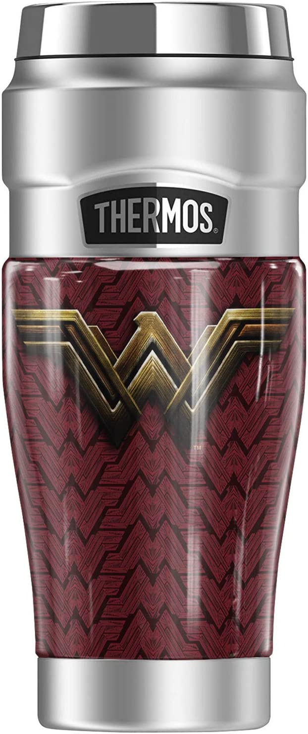 Justice League Movie 今ダケ送料無料 Wonder Woman KING Logo THERMOS S STAINLESS モデル着用&注目アイテム