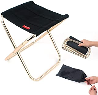 Outdoor Folding Chair Mini Fishing Stool Portable Lightweight Chair for Camping Hiking Barbecue with Carry Bag, Aluminium ...