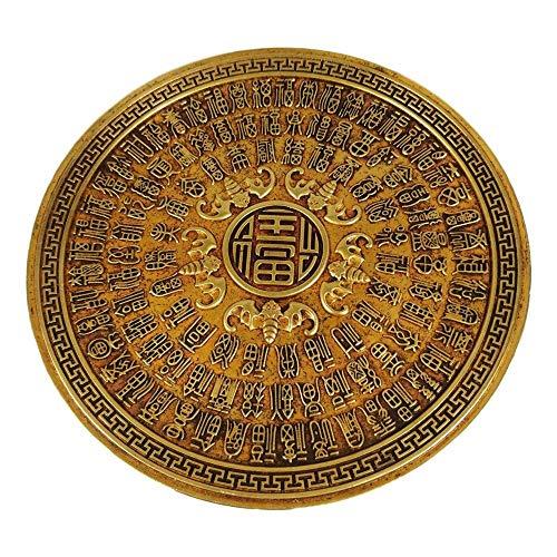 LAOJUNLU Vergoldete Bronzeplatte vor Ihnen in Antik-Bronze-Optik, Meisterwerk-Kollektion