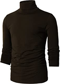 Mens Casual Slim Fit Turtleneck Pullover Sweater Knitted Basic Designed