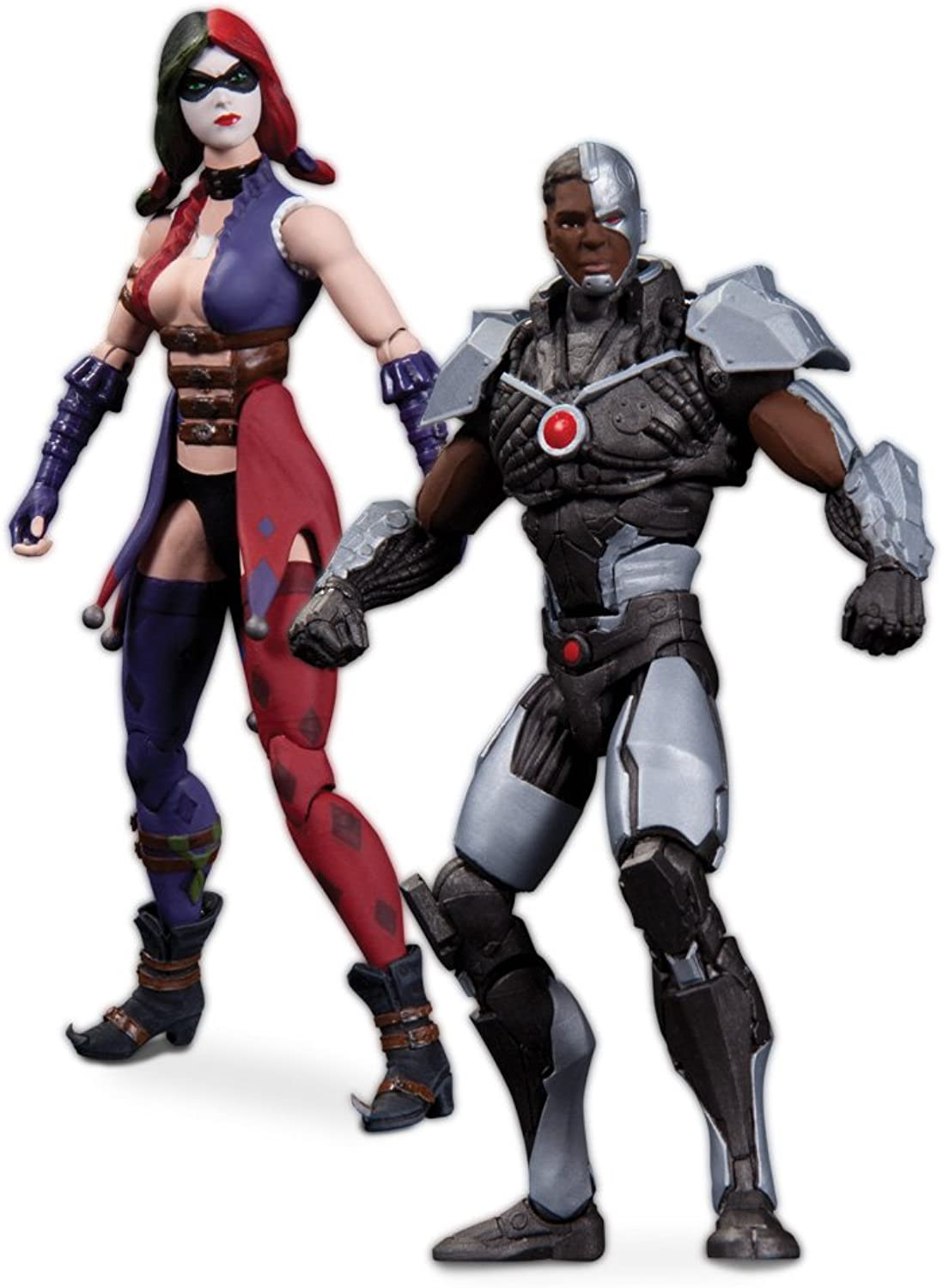Injustice Cyborg vs. Harley Quinn DC Collectibles Action Figures