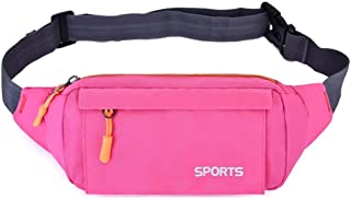 DIEBELLAU Pocket Men's Outdoor Leisure Sports Fashion Pockets Multi-Function Men's and Women's Chest Bags (Color : Pink)