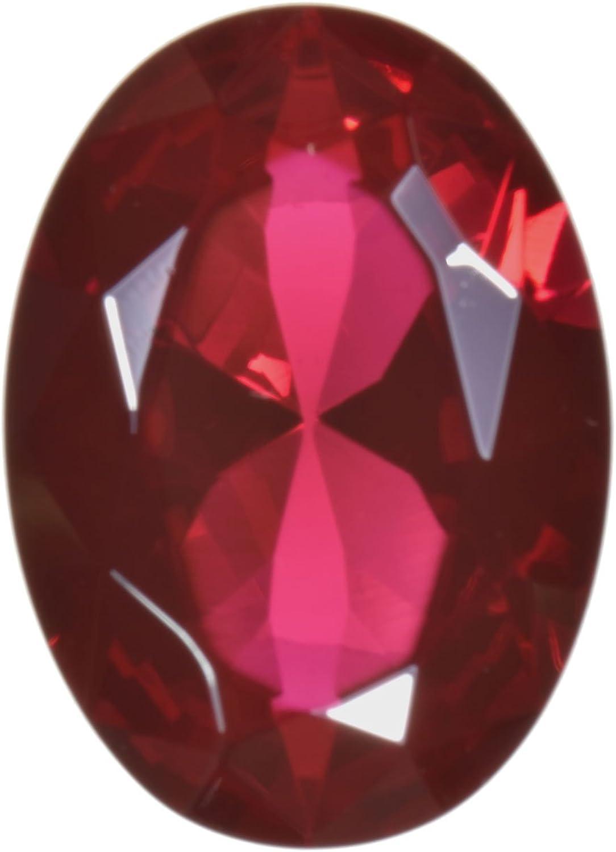 uGems Lab Ruby Large Oval Facet (18 Millimeters)