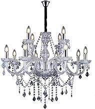 Lustre de Cristal para 12 Lâmpadas E14 Glam Taschibra Transparente