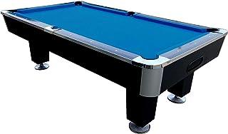 BuckShot Pool Table Lemans 7ft Table De Billard   Table De Pool   Noir/Bleu    Ardoise   Avec Accessoires   Retour De Boules Automatique   Version 4  Legs ...