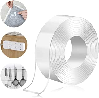 Torix 3 Meter Magic Improvement Double Sided Tape mounting Transparent Trace less Acrylic Reuse washable Waterproof Adhesi...