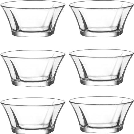 Preisvergleich für LAV 6 tlg. Glasschalen Truva Schalen Glasschale Dessertschale Vorspeise Glas Gläser 190 ml