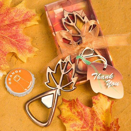 Fall Wedding Favors: Leaf Shaped Bottle Openers, 36