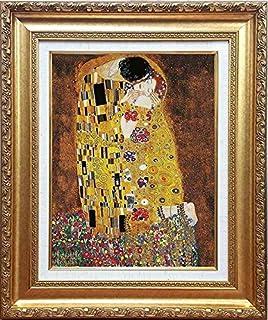 グスタフ・クリムト[世界の名画コレクション]『接吻』複製画 人物画 ザ・キッス キス せっぷん カップル 恋人たち アベック 世紀末美術