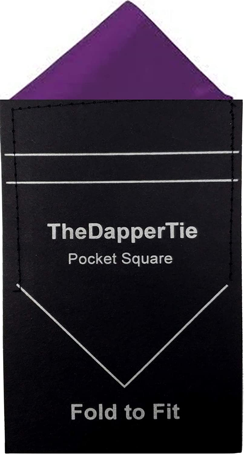 TheDapperTie Popular brand in the world - Men's depot Solid Triangle Square Pocket on Pre Folded