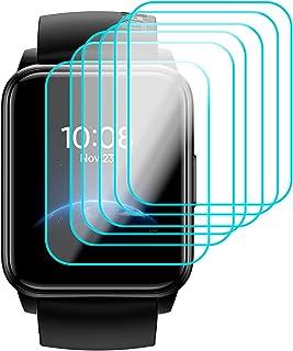 GIOPUEY Skärmskydd Kompatibelt med Realme Watch 2,[6 Pack] Ultratunn Mjuk TPU-Skyddsfilm, Inga Bubblor-Repor-Fingeravtryck