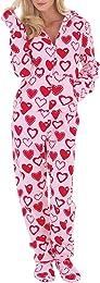 Femme Grenouillères Combinaison a Capuche de Pyjam