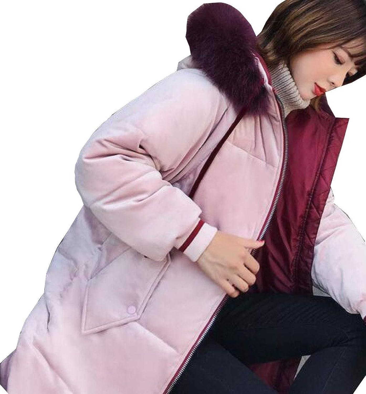Women's Winter Coats Hoodie Jacket Velvet Slim Fit Maxi Overcoat