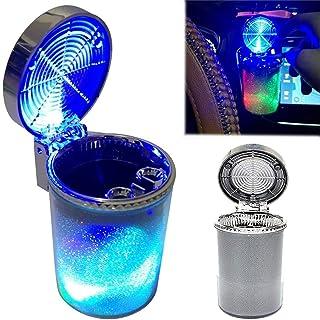 Cenicero Port/átil para Coche con Luz Azul LED KKmoon Cenicero Coche Posavasos