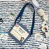 Bolso pequeño de Nylon Estilo de Verano Bolso de Hombro Fresco literario Bolso de Mensajero Impermeable de niña Dulce Japonesa Estilo Horizontal