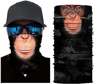235f72ab72f4c 3d Animal Masque visage, ZZM Tube de col Masque facial, DE MOTO Cyclisme Ski